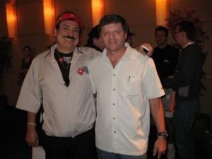 Dieagoaiz junto a Humberto Brenes en el LAPT de Chile
